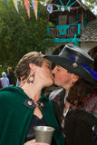 Renaissance Festival Kiss Stock Photo