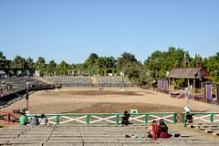 Renaissance-Festival-turnierende Arena lizenzfreie stockbilder