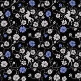 Renaissance Floral Seamless Pattern Royalty Free Stock Photos