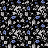 Renaissance Floral Seamless Pattern Royalty Free Stock Photos