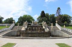 Renaissance fountain in Cesky Krumlov Stock Photo
