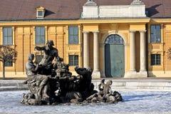 Renaissance fountain at the entrance of Schonbrunn palace, Vienna Stock Photos