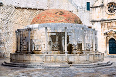 Renaissance fountain inside old town Dubrovnik Royalty Free Stock Photography