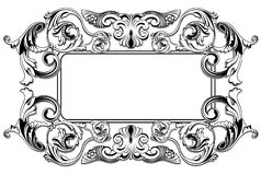 Renaissance_frame. Black and white Renaissance frame,AI file included Stock Photos