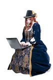 Renaissance-Frau lizenzfreie stockbilder