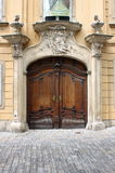 Renaissance front door stock photo