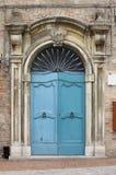 Renaissance front door. Wooden renaissance style front door Royalty Free Stock Photos