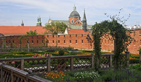 Renaissance garden at the Wawel Castle in Krakow Stock Photography