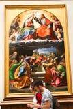 Renaissance het Schilderen bij het Museum van Vatikaan stock foto's