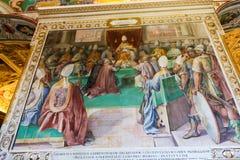 Renaissance het Schilderen bij het Museum van Vatikaan royalty-vrije stock fotografie