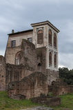 Renaissance House of the Garden Farnese. The Casina Farnese is one of the few Renaissance buildings that remain atop the Palatine Hill in Rome royalty free stock photo