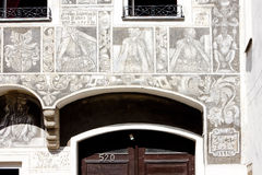 Renaissance house, Slavonice Royalty Free Stock Photo
