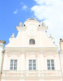 Renaissance house with statues in Telc Royalty Free Stock Photography