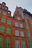 Old architecture in Gdansk. Old renaissance houses in Gdansk in northern Poland Royalty Free Stock Image