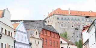 Renaissance houses and palace in Cesky Krumlov Stock Photos