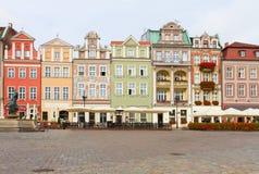 Renaissance houses , Poznan, Poland Stock Photos