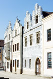 Renaissance houses, Slavonice Royalty Free Stock Images
