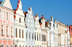 Renaissance houses in Telc Stock Photography
