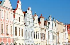 Renaissance houses in Telc. Czech Republic Stock Photography