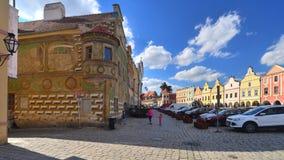 Renaissance houses in Telc, Czech Republic Stock Photography