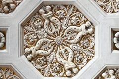 Renaissance lacunar stock image