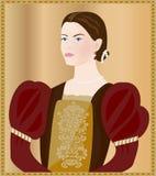 Renaissance lady Royalty Free Stock Photo