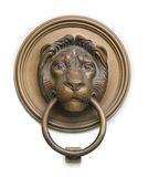 Renaissance lionhead knocker from hungary on white Royalty Free Stock Photo