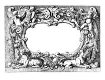 Renaissance ornamental frame Stock Photo