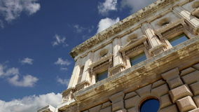 Renaissance palace of Carlos V, Alhambra, Granada, Spain stock video footage