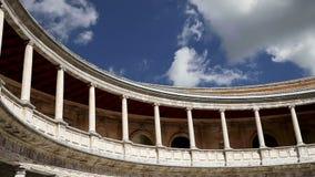Renaissance palace of Carlos V, Alhambra, Granada, Spain stock video