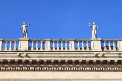 Renaissance palace with statues Royalty Free Stock Photography