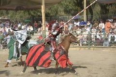 Renaissance Pleasure Faire - Jousting Knights 3 Stock Image