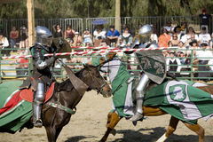 Renaissance Pleasure Faire - Jousting Knights 8 Stock Photos