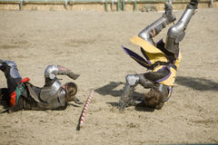 Renaissance Pleasure Faire - Knights Battle 8 Stock Photos