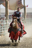 Renaissance Pleasure Faire - Knights on Horseback 1 Stock Images