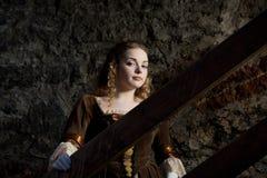 Renaissance portrait. A renaissance portrait of a beauty girl in medieval Tallinn Stock Image