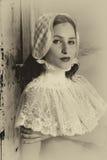 Renaissance portrait in sepia Stock Images