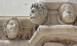 Renaissance portraits in stone - Sibenik Cathedral Royalty Free Stock Images