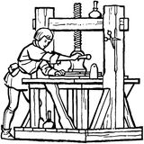 Renaissance Printer Royalty Free Stock Photography