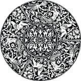 Renaissance seamless pattern illustration. Royalty Free Stock Photos