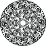 Renaissance seamless pattern illustration. Royalty Free Stock Photography