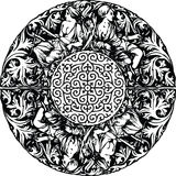 Renaissance seamless pattern illustration. Royalty Free Stock Photography