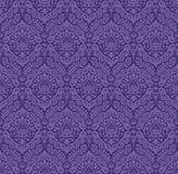 Renaissance seamless pattern in purple Stock Photography