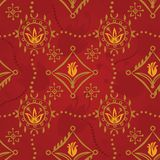 Renaissance Seamless Pattern Vector with tulips Stock Images