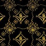 Renaissance Seamless Pattern With Tulips Stock Image