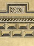 Renaissance sgraffito. Renaissance plaster, wall texture with an abstract sgraffito Royalty Free Stock Photos