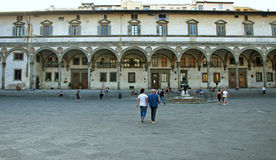 Renaissance square in Florence, Italy Stock Photo