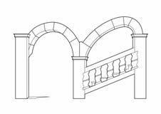 Renaissance staircase. Vector illustration of an old staircase, eps 10 file Stock Illustration