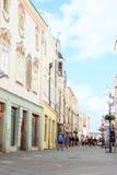 Renaissance street in Jindrichuv Hradec Royalty Free Stock Photos