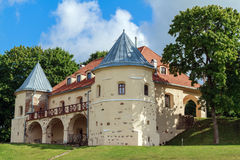 Renaissance style castle in Norviliškės on Lithuanian-Belarusi royalty free stock image